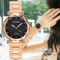 Women's Fashion Casual Quartz Rose Gold Stainless Steel Band Analog Wrist Watch