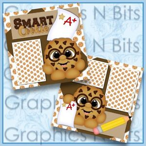 """SMART COOKIE 12""""x12"""" Printed Premade Scrapbook Pages"""