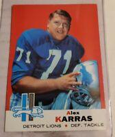 1969 Topps #123 Alex Karras HOF Detroit Lions / Iowa Hawkeyes (F)