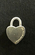 Tiffany & Co Sterling Silver 925 Heart Padlock Lock Charm Pendant