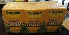 12 boxes of crayola anti-dust white chalk