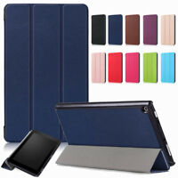 For Amazon Kindle Fire HD 8 8th Gen 2018 Thin Smart Magnetic Leather Tablet Case