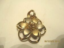 14 K Yellow & White Gold Dimensional Flower Enhancer w/ Large Bale  Italy