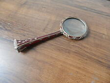 JAY STRONGWATER BRONZE ENAMELED & JEWELED HAND CRAFTED ARTISAN MAGNIFYING GLASS