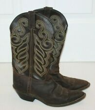Double H Womens Buckaroo Boots Old Town DH5211 Size 8.5 Brown NICE Western Rodeo