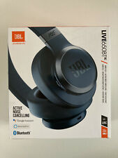 JBL LIVE 650BTNC Wireless Over-Ear Noise-Cancelling Headphones - Blue