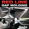 Molding Accessory 5M Point Red Edge Gap Line For Universal Car Interior Garnish