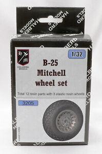 B-25 Mitchell Halberd Models wheel set 1/32 scale for HK Models kit