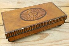 3 British Queens Cadbury Tin, Inlaid Wood Box Look - C1911