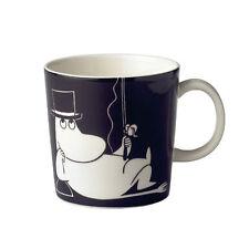 Arabia Moomin Mug Black Pappa Fishing *NEW