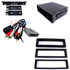 Radio Replacement Dash Kit Pocket 1-DIN w/Amplifier Retention Harness for Ford