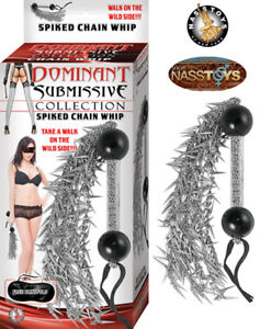 Spiked Chain Whip Tickle Spank Submissive Dominatrix Waterproof Nasstoys S&M Toy