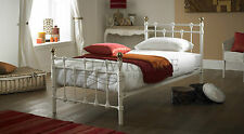Oxford Single 3ft WHITE Metal Bed  ** FRAME ONLY **