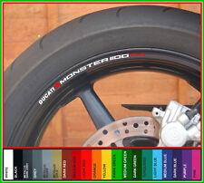 Ducati Monster 1100 Evo Rueda Llanta Calcomanías Stickers-elección de colores - 1100evo