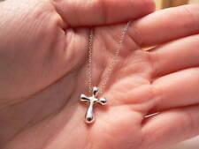 Pendant Charm Link 16.5 Inch Chain Tiffany & Co Peretti Silver Cross Necklace