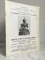 Catalogue de vente Versaille Objets d'Art d'Extrême-orient  26 Janvier 1975