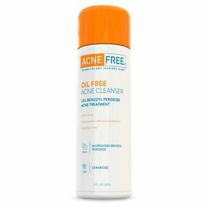 Acne Free Oil-Free Acne Cleanser, Benzoyl Peroxide 2.5% Acne Face Wash-237ml