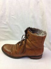 LADIES CLARKS BROWN ANKLE BOOTS SIZE 5.5