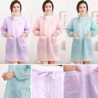 Long Sleeve Kitchen Apron For Woman BBQ Aprons Bibs Home Cooking Accessories