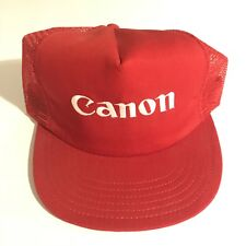 Vintage Canon Camera Trucker Hat 80s RARE Made In USA