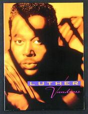 Luther Vandross Rare Original 1991 Power Of Love Tour Book Program soul w/photos
