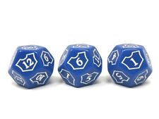 x3 MTG D12 Spin Down Planeswalker Loyalty Counter Dice Blue Magic The Gathering