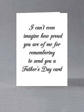 I can't even imagine how proud you are for remembering to send you a card