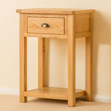 Roseland Oak Small Hall Table / Oak Telephone Table / Solid Wood Console Table