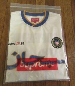 Supreme Arabic Logo Soccer Jersey Size Medium White SS21 Supreme New York 2021