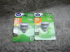 Dimmable LED Bulbs (2) GU 5.3 Base Soft White 350 Lumens MR16 12V 5W