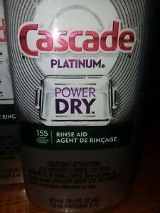 3 - 16 Oz. Bottles of CASCADE Platinum POWER DRY Rinse Aid 16.0 FL. OZ/473 mL.