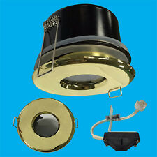 Brass Recessed IP65 LED Shower Bathroom Light MR16 Ceiling Spot Downlight Lamp