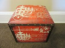 Essential Decor & Beyond padded storage Box, ottoman. RED