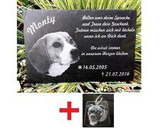 Tiergrabstein Gedenkstein Grabstein Gravur Mensch Grabplatte Katze Hund 20x20 cm