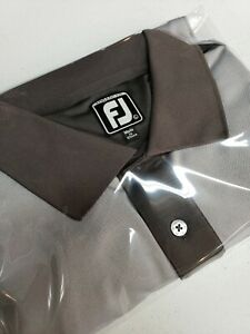 FootJoy FJ Athletic Fit Performance Stretch Polo Golf Shirt Mens Large Dual Gray