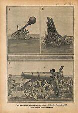 Lance-Bombe Obusier 280 Minenwerfer Artilleur Deutsches   WWI 1915 ILLUSTRATION