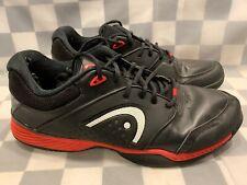 Kopf Prestige III Tennisschuhe Herren Größe 12.5 Sneaker Schwarz Rot Weiß