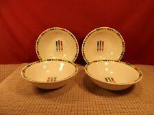 "Oneida Holiday Dinnerware Love Peace Joy Set of 4 Cereal Bowls 6 5/8"""