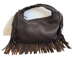 Bottega Veneta Authentic Intrecciato Fringe Maxi Venta Vintage Shoulder Bag VGC