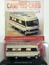 hymermobil type 650 1985 à chassis poids lourd 1/43 passion camping-cars n4 neuf