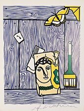 ROY LICHTENSTEIN HAND SIGNED * TRUMPER WITH LEGER HEAD AND BRUSH * PRINT W/ COA