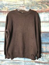 8a738cf001c921 Ferre Jeans Embroidered Brown Wool Sweater Large