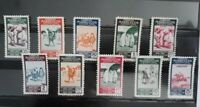 Spanish Morocco 1953 Complete set mint stamps. EDIFIL 384/393, Gum (w/oxide) III