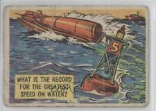 1957 #49 What is the record for greatest speed on water? Non-Sports Card 0v9