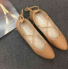 Korean Lace Doll Shoes Brown (Size 36)