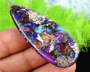 G19412 50x20x5mm Purple Sea Sediment Jasper Teardrop Pendant Bead