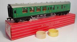Hornby Dublo 2/3-rail 00 gauge BR(SR) Green Brake/2nd Class Coach (4055)