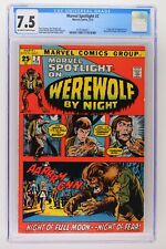 Marvel Spotlight #2 - Marvel 1972 CGC 7.5 Origin & 1st App Werewolf by Night!