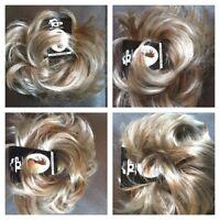 Hair scrunchie Wrap Messy Bun Updo Hairpiece Blonde Brown Ash Mix Extension