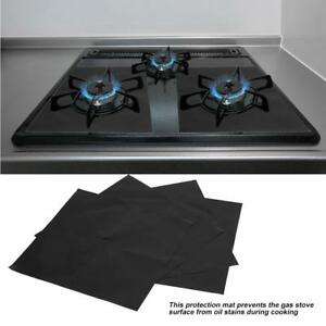 4Pcs  Protector Gas Range Liner Non Stick Gas Hob Stove  Cooker Cover Tool